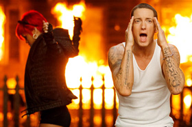 Eminem, Rihanna, Love the Way You Lie, music, video, official, Megan Fox, Dominic Monaghan, pictures, picture, photos, photo, pics, pic, images, image, hot, sexy, latest, new, 2010