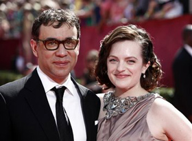Fred Armisen, Elisabeth Moss, pictures, picture, photos, photo, pics, pic, images, image, hot, sexy, latest, new, 2011