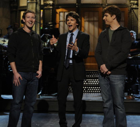 Mark Zuckerberg, Jesse Eisenberg, Andy Samberg, SNL, Saturday Night Live, pictures, picture, photos, photo, pics, pic, images, image, hot, sexy, latest, new, 2011