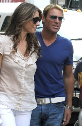 Shane Warne, Elizabeth Hurley, pictures, picture, photos, photo, pics, pic, images, image, hot, sexy, latest, new, 2011