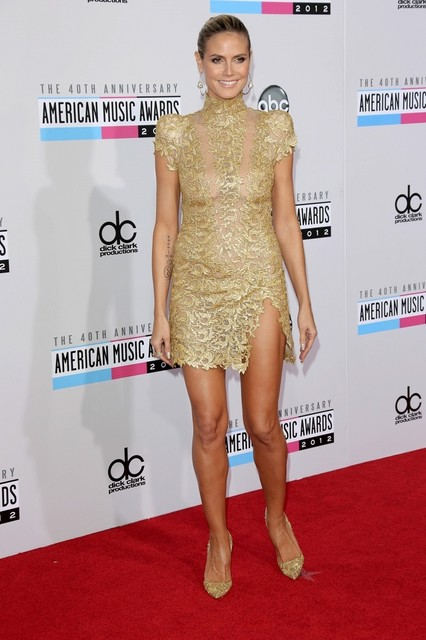 Heidi Klum Pictures: American Music Awards (AMAs) 2012 Red Carpet Photos, Pics