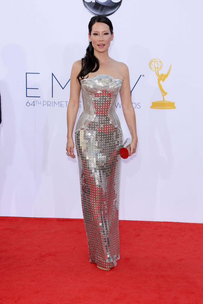 Lucy Liu Hot Style Pictures: Primetime Emmy Awards (Emmys) 2012 Photos, Pics