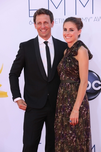 Seth Meyers and Alexi Ashe Pictures: Primetime Emmy Awards (Emmys) 2012 Photos, Pics