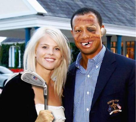 Tiger Woods and Elin Nordegren Christmas Picture: Tiger Woods and Elin Nordegren Christmas Pictures and Photos