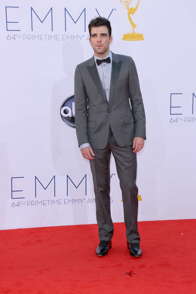 Zachary Quinto Pictures: Primetime Emmy Awards (Emmys) 2012 Red Carpet Photos, Pics