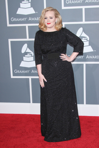 Adele Pictures: Grammy Awards (Grammys) 2012 Red Carpet Photos, Pics