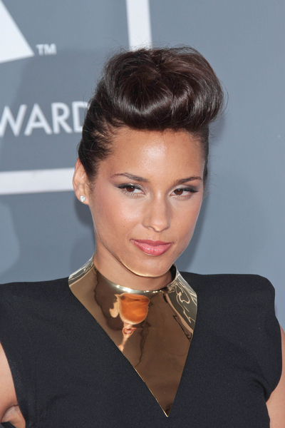Alicia Keys Pictures: Grammy Awards (Grammys) 2012 Red Carpet Photos, Pics