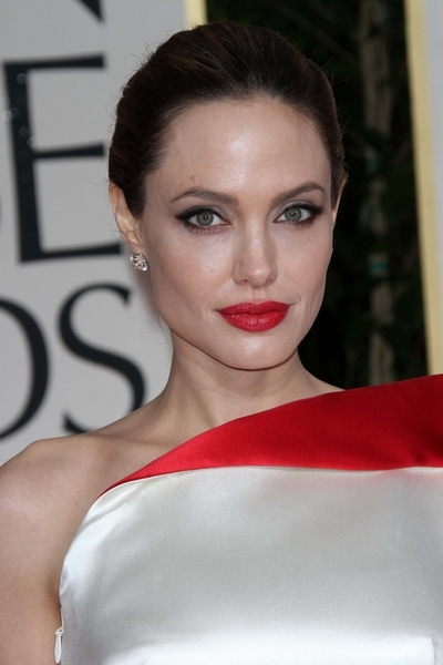 Angelina Jolie Pictures: Golden Globes 2012 Awards Red Carpet Photos, Pics