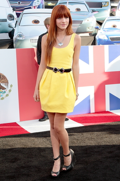 Bella Thorne Hot Fashion Pictures: Cars 2 Movie Premiere Photos, Pics