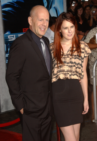 Bruce Willis and Rumer Willis Pictures: Surrogates Los Angeles Premiere Red Carpet Photos