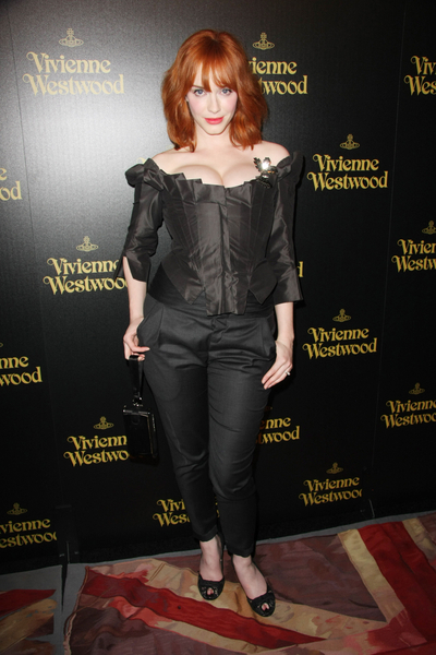 Christina Hendricks Hot Style Pictures: Vivienne Westwood Los Angeles Photos, Pics