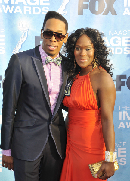 Deitrick Haddon and Damita Haddon Pictures: NAACP Image Awards 2011 Red Carpet Photos, Pics