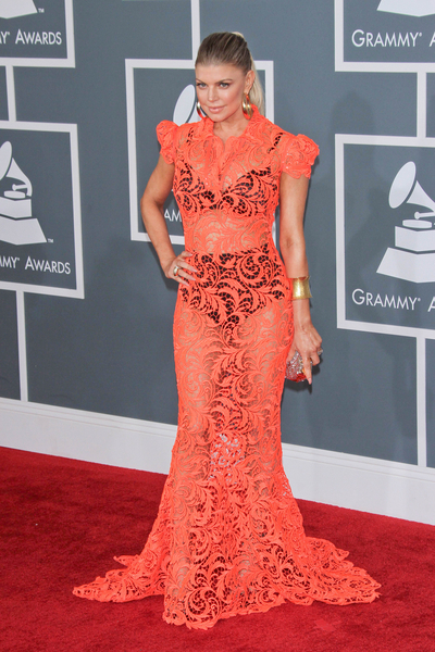 Fergie Pictures: Grammy Awards (Grammys) 2012 Red Carpet Photos, Pics