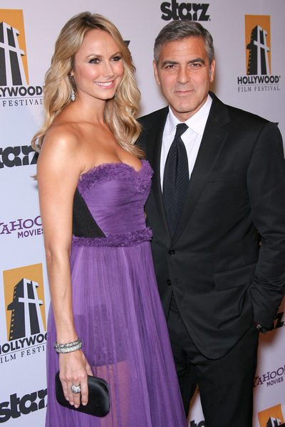 George Clooney and Stacy Keibler Pictures: Hollywood Film Awards Gala 2011 Red Carpet Photos, Pics