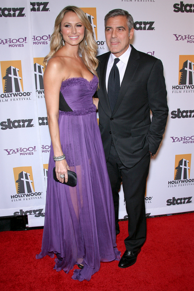 Stacy Keibler and George Clooney Pictures: Hollywood Film Awards Gala 2011 Photos, Pics