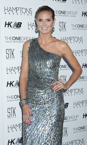 Heidi Klum Hot Style Pictures: Hamptons Magazine Cover Party Photos, Pics