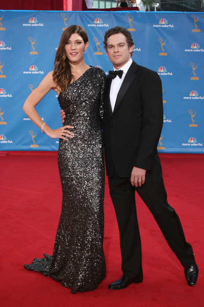 Jennifer Carpenter and Michael C. Hall Pictures: Primetime Emmy Awards 2010 Red Carpet Fashion Photos and Pics