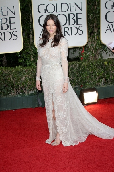 Jessica Biel Pictures: Golden Globes 2012 Awards Red Carpet Photos, Pics