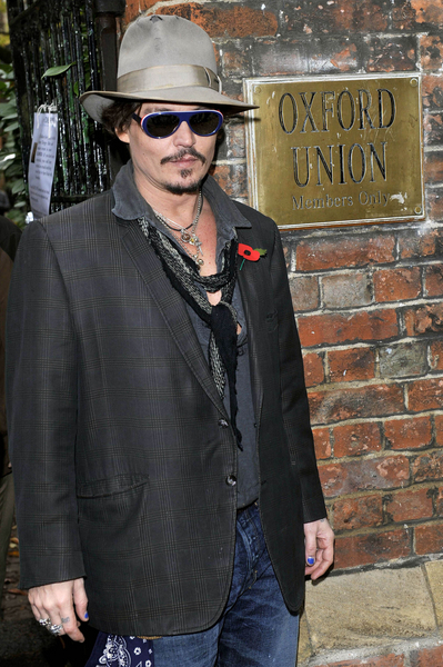 Johnny Depp Pictures: Oxford University Students Union Address Photos, Pics