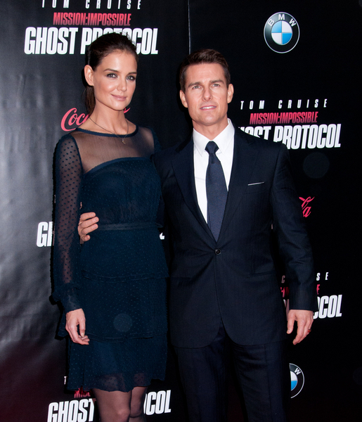 Tom Cruise and Katie Holmes Pictures: Mission: Impossible - Ghost Protocol New York Movie Premiere Photos, Pics