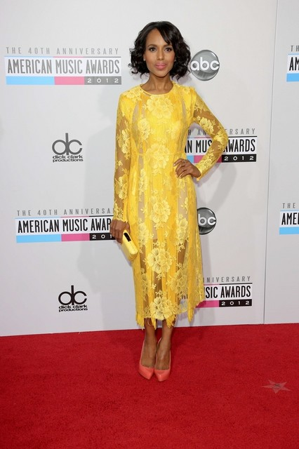 Kerry Washington Pictures: American Music Awards (AMAs) 2012 Red Carpet Photos, Pics