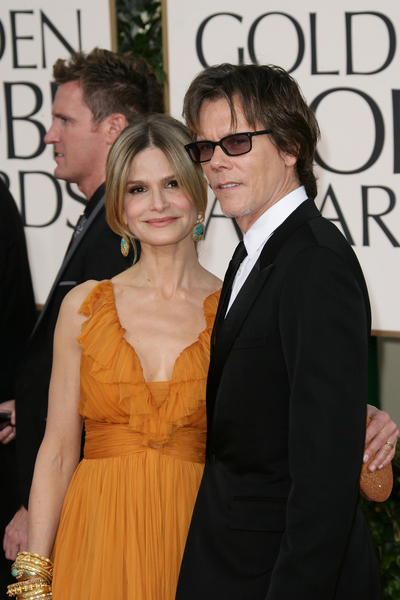 Kyra Sedgwick and Kevin Bacon Pictures: Golden Globes Awards 2011 Red Carpet Photos and Pics