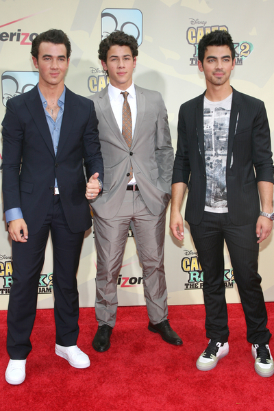 Kevin, Nick and Joe Jonas Pictures: Camp Rock 2: The Final Jam Premiere Red Carpet Photos and Pics