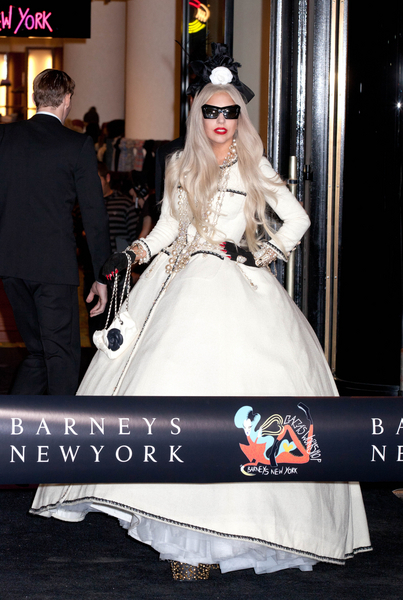 Lady Gaga Fashion Style Pictures: Gaga's Workshop at Barney's New York Photos, Pics