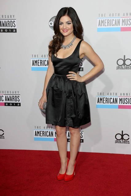Lucy Hale Pictures: American Music Awards (AMAs) 2012 Red Carpet Photos, Pics
