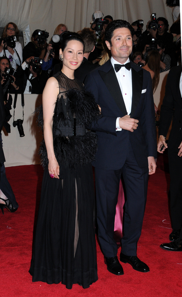Lucy Liu and Matteo Marzotto Pictures: Alexander McQueen: Savage Beauty Photos, Pics