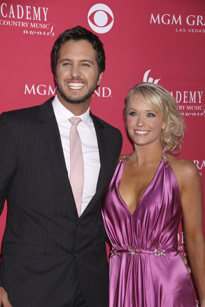 Luke Bryan and wife Caroline Pictures, Photos, Pics - 44th Academy of Country Music Awards Red Carpet