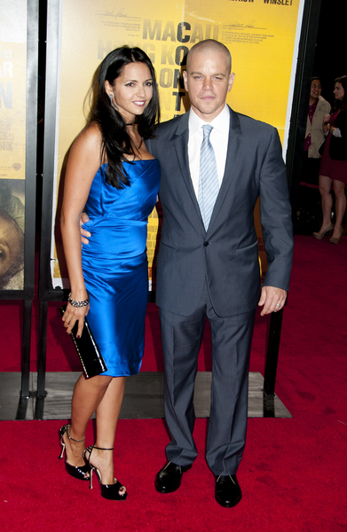Matt Damon and Luciana Barroso Pictures: Contagion Movie Premiere Photos, Pics
