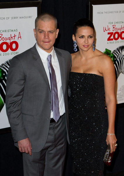 Matt Damon and Wife Luciana Barroso Pictures: We Bought a Zoo Movie Premiere Photos, Pics