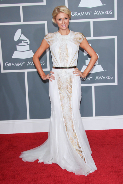 Paris Hilton Pictures: Grammy Awards (Grammys) 2012 Red Carpet Photos, Pics