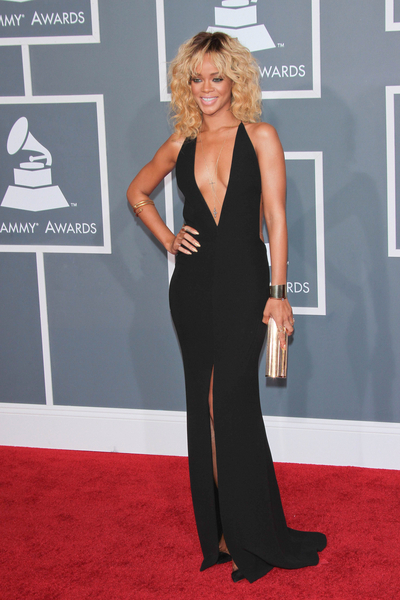 Rihanna Pictures: Grammy Awards (Grammys) 2012 Red Carpet Photos, Pics
