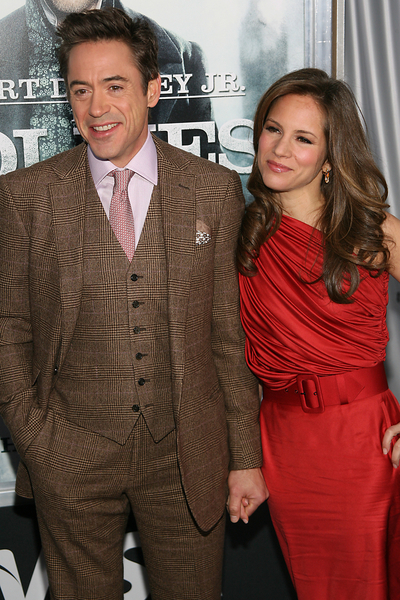 Robert Downey Jr. and Susan Levin Downey Pictures: Sherlock Holmes New York Premiere Red Carpet Photos