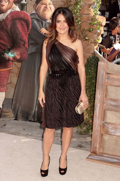 Salma Hayek Hot Style Pictures: Puss in Boots Movie Premiere Photos, Pics