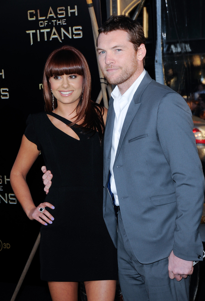 Sam Worthington and Girlfriend Natalie Mark Photos: Clash of the Titans Premiere Red Carpet Pictures