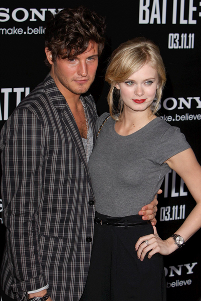 Nico Tortorella and Sara Paxton Pictures: Battle: Los Angeles Movie Premiere Photos, Pics