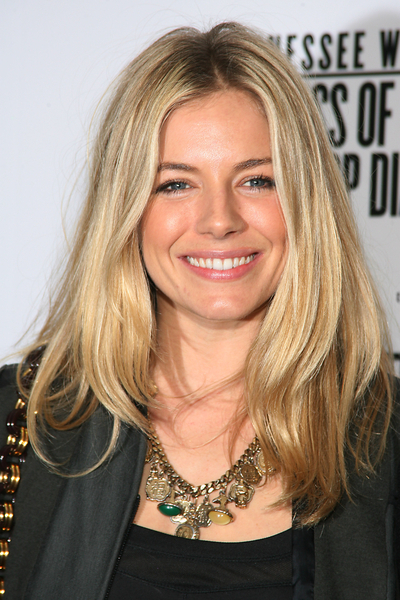Sienna Miller Hair Pictures: The Loss of a Teardrop Diamond New York Premiere Red Carpet Photos