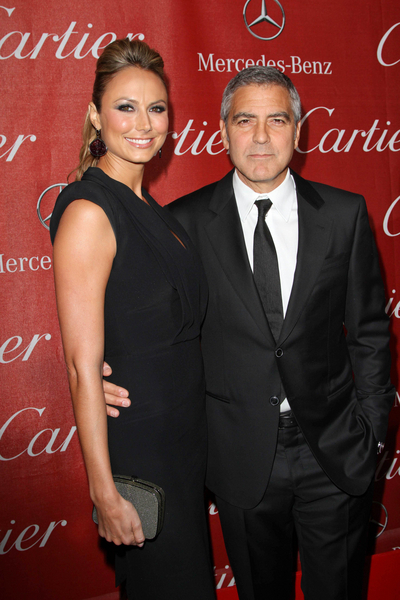 George Clooney and Stacy Keibler Pictures: Palm Springs International Film Festival Awards Gala 2012 Photos, Pics