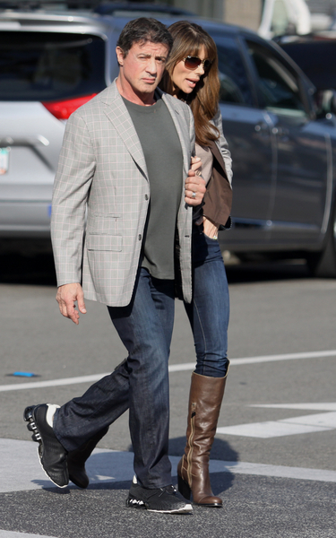 <p><strong>Sylvester Stallone and Jennifer Flavin Pictures:</strong> Sylvester Stallone and Jennifer Flavin sighting as they shop on Rodeo Drive on December 21, 2011 in Beverly Hills, California.</p>