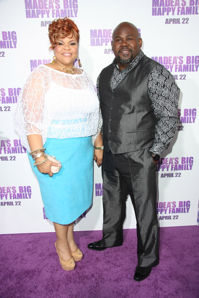 ": Tamela Mann and David Mann arrive at the ""Madea's Big Happy Family"