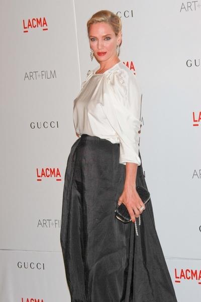 Uma Thurman Pictures: LACMA Art and Film Gala Photos, Pics