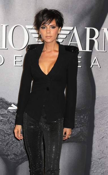 Victoria Beckham Hot Pictures - Emporio Armani Underwear Campaign Launch at Macy&#039;s