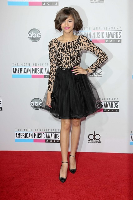 Zendaya Coleman Pictures: American Music Awards (AMAs) 2012 Red Carpet Photos, Pics